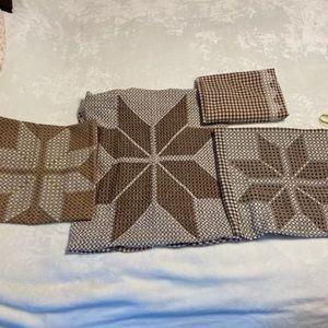 Four Brown Retro Table Clothes